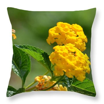 Sunshine Gold Throw Pillow by Maria Urso