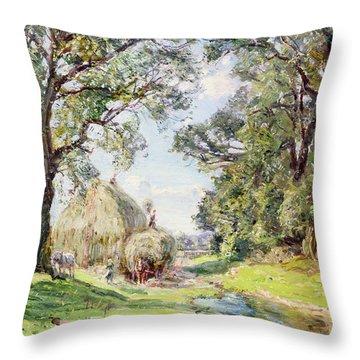 Surrey Landscape  Throw Pillow by Edmund George Warren