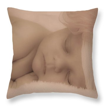 Sweet Dreams Throw Pillow by Trish Tritz
