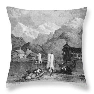 Switzerland: Interlachen Throw Pillow by Granger