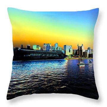 Sydney In Color Throw Pillow by Douglas Barnard