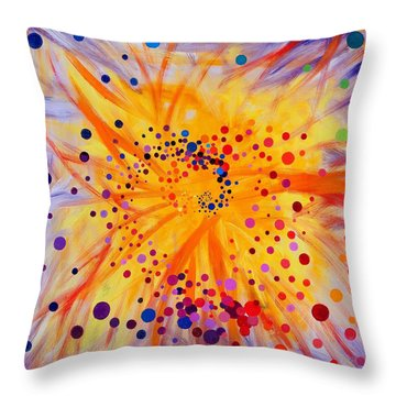 Symmetry Breaking Throw Pillow by Regina Valluzzi