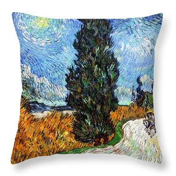 Tall Trees In The Night Throw Pillow by Sumit Mehndiratta