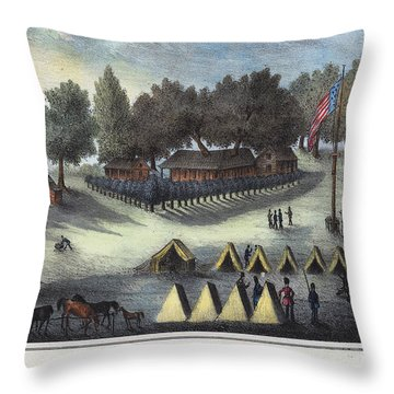Tampa Bay - Fort Brooke Throw Pillow by Granger