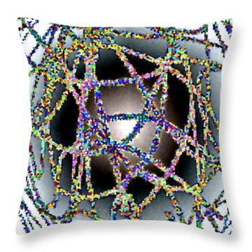 Tangled Web Throw Pillow by Will Borden