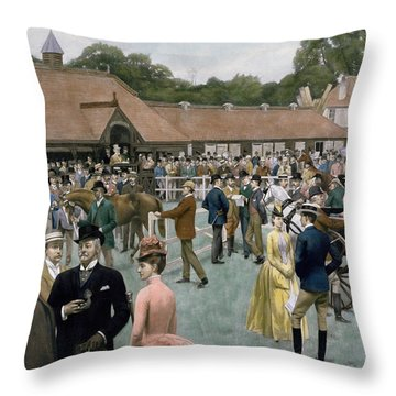 Tattersall's Newmarket Pub Throw Pillow by Isaac J Cullin and I P Mendoza