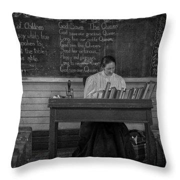 Teachers Rules  Throw Pillow by Jerry Cordeiro