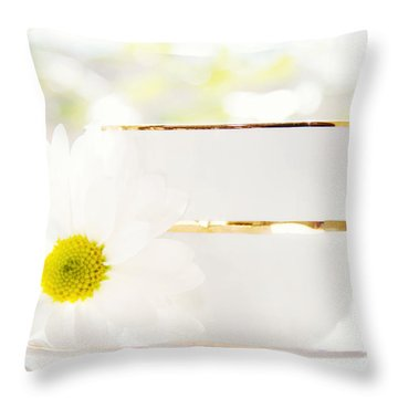 Teacup Filled With Sunshine Throw Pillow by Kim Fearheiley