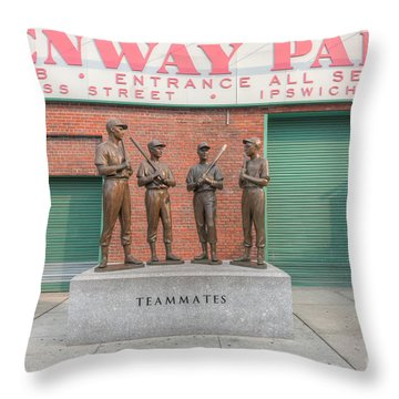 Teammates Throw Pillow by Clarence Holmes