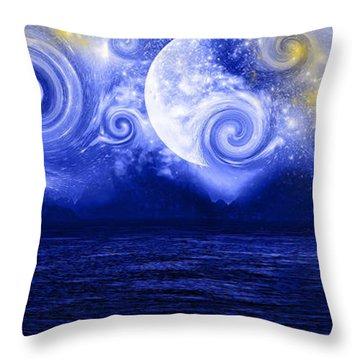 Tempestuous Night Throw Pillow by Lourry Legarde
