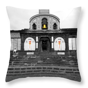 Temple At India Throw Pillow by Sumit Mehndiratta