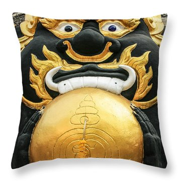 Temple Statue Throw Pillow by Adrian Evans