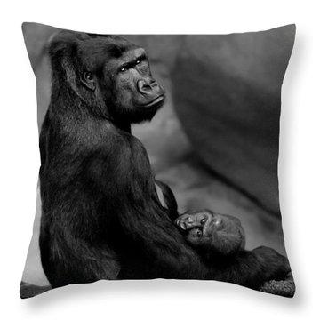 Tender Moment Throw Pillow by Sebastian Musial