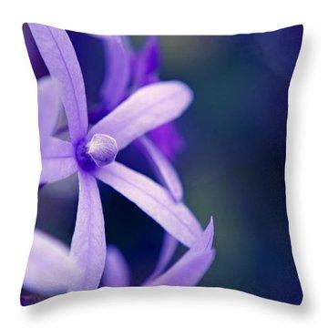 Tender Petals Throw Pillow by Melanie Moraga