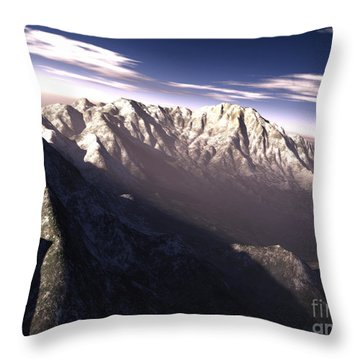 Terragen Render Of Kitt Peak, Arizona Throw Pillow by Rhys Taylor