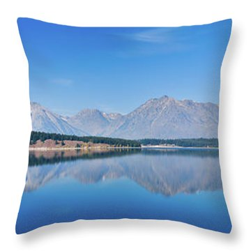 Teton Reflections Throw Pillow by Greg Norrell