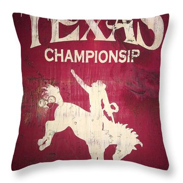 Texas Championsip Throw Pillow by Eena Bo