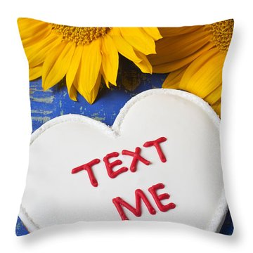 Text Me Throw Pillow by Garry Gay