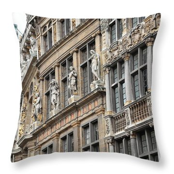 Textures Of Brussels Throw Pillow by Carol Groenen