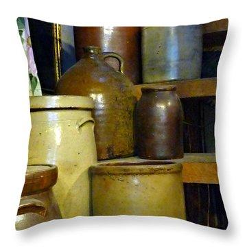 That's A Crock Throw Pillow by Jo Sheehan