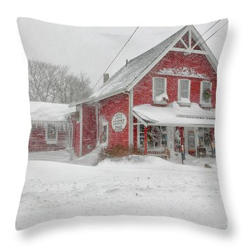 The 1856 Country Store On Main Street In Centerville On Cape Cod Throw Pillow by Matt Suess