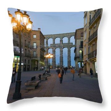 The 1st Century A.d. Roman Aqueduct Throw Pillow by Scott S. Warren