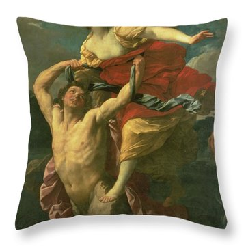 The Abduction Of Deianeira Throw Pillow by  Centaur Nessus