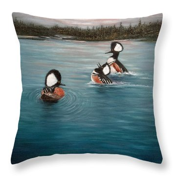 The Actors Throw Pillow by Dee Carpenter