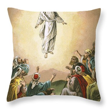 The Ascension Throw Pillow by English School