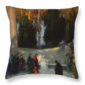 The Audience Throw Pillow by TE Mostyn