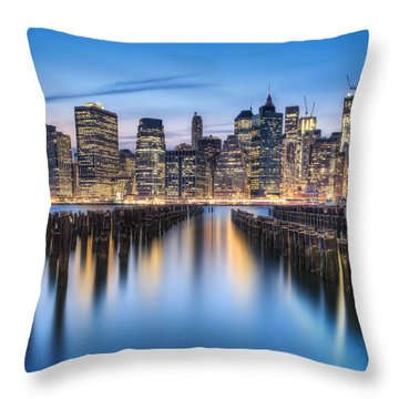 The Blue Hour Throw Pillow by Evelina Kremsdorf
