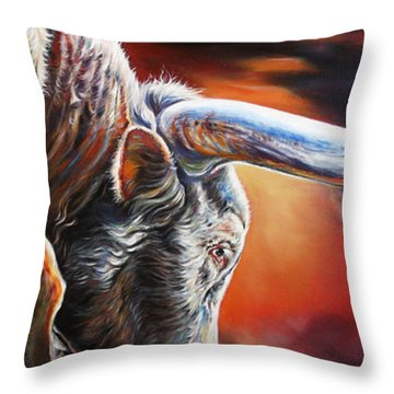 The Boss Throw Pillow by Rick Unger