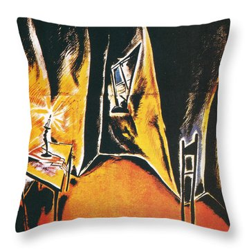 The Cabinet Of Dr Caligari Throw Pillow by Georgia Fowler