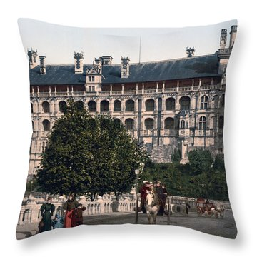 The Castle In Blois - France Throw Pillow by International  Images