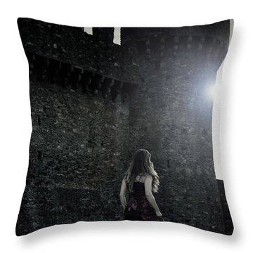 The Castle Throw Pillow by Joana Kruse
