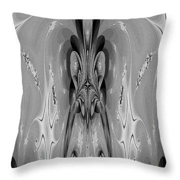 The Cave Dweller Throw Pillow by Maria Urso