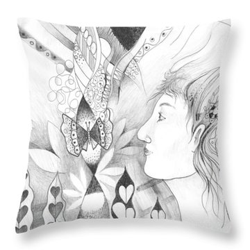 The Change And The Changing Throw Pillow by Helena Tiainen