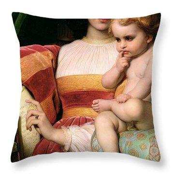 The Childhood Of Pico Della Mirandola Throw Pillow by Hippolyte Delaroche