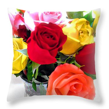 The Color Of A Rose Throw Pillow by Joan  Minchak