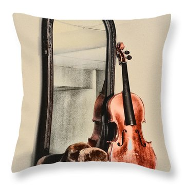The Cowboys Dresser Throw Pillow by Bill Cannon