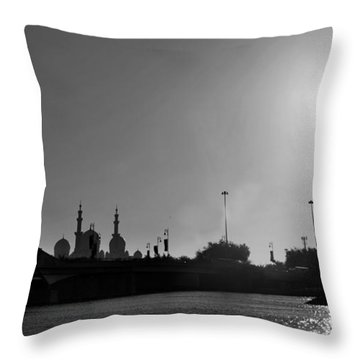 The Cream Of Abudhabi Throw Pillow by Farah Faizal
