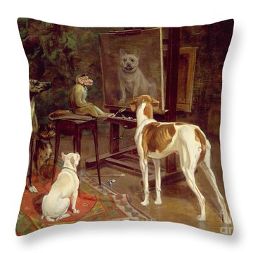 The Critics Throw Pillow by A Vimar