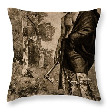 The Death Of Pontiac, 1769 Throw Pillow by Photo Researchers