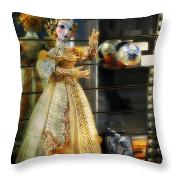 The Doll Salzburg Throw Pillow by Mary Machare