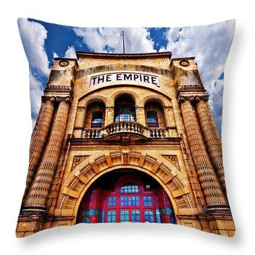 The Empire Theatre Throw Pillow by Meirion Matthias