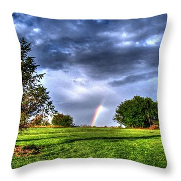 The End Of A Rainbow Throw Pillow by Jackie Novak