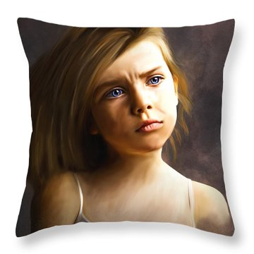The Eyes Are The Windows Throw Pillow by Stacy Moore