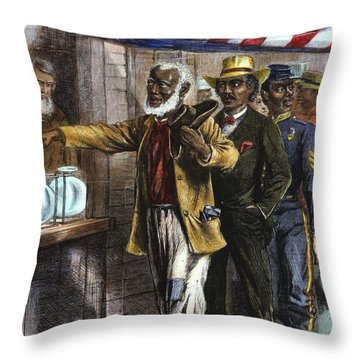 The First Vote, 1867 Throw Pillow by Granger