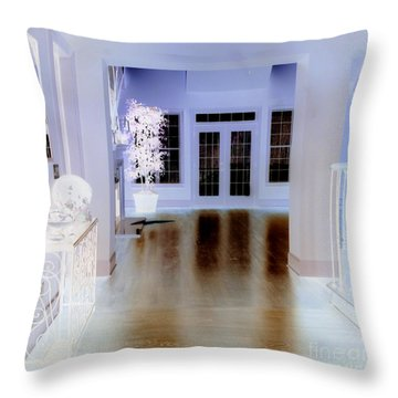 The Forgotten House Throw Pillow by Renee Trenholm