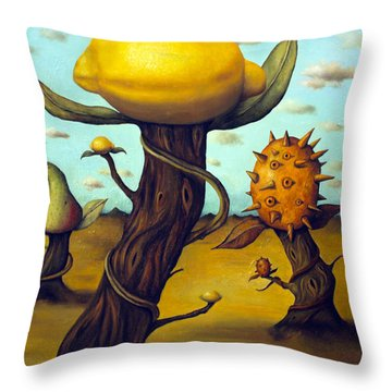 The Fruit Orchard Throw Pillow by Leah Saulnier The Painting Maniac